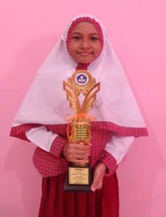 Juara 1 lomba Olimpiade Matematika tingkat Kecamtan Babelan